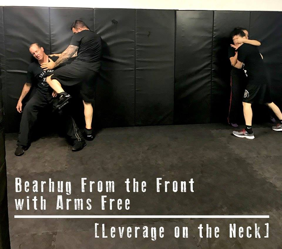Bearhug From the Front with Arms Free [Leverage on the Neck]