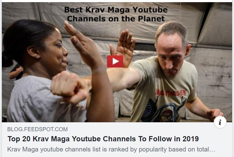 Krav Maga YouTube channels