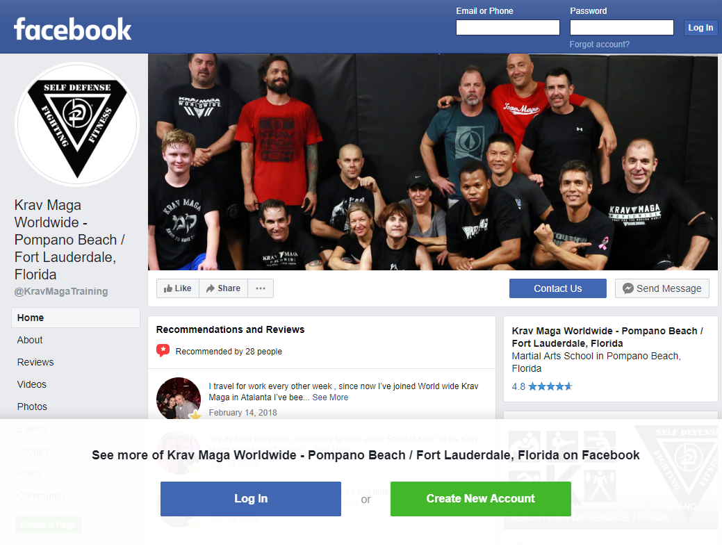 Krav Maga Worldwide - Pompano Beach/Fort Lauderdale, Florida Facebook Page