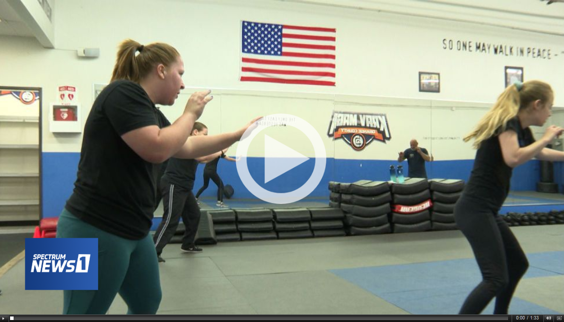 Krav Maga College Self-Defense Class Preparing Young Women