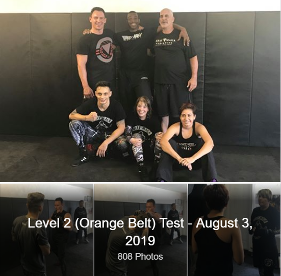 Pictures from Level 2 Orange Belt Testing