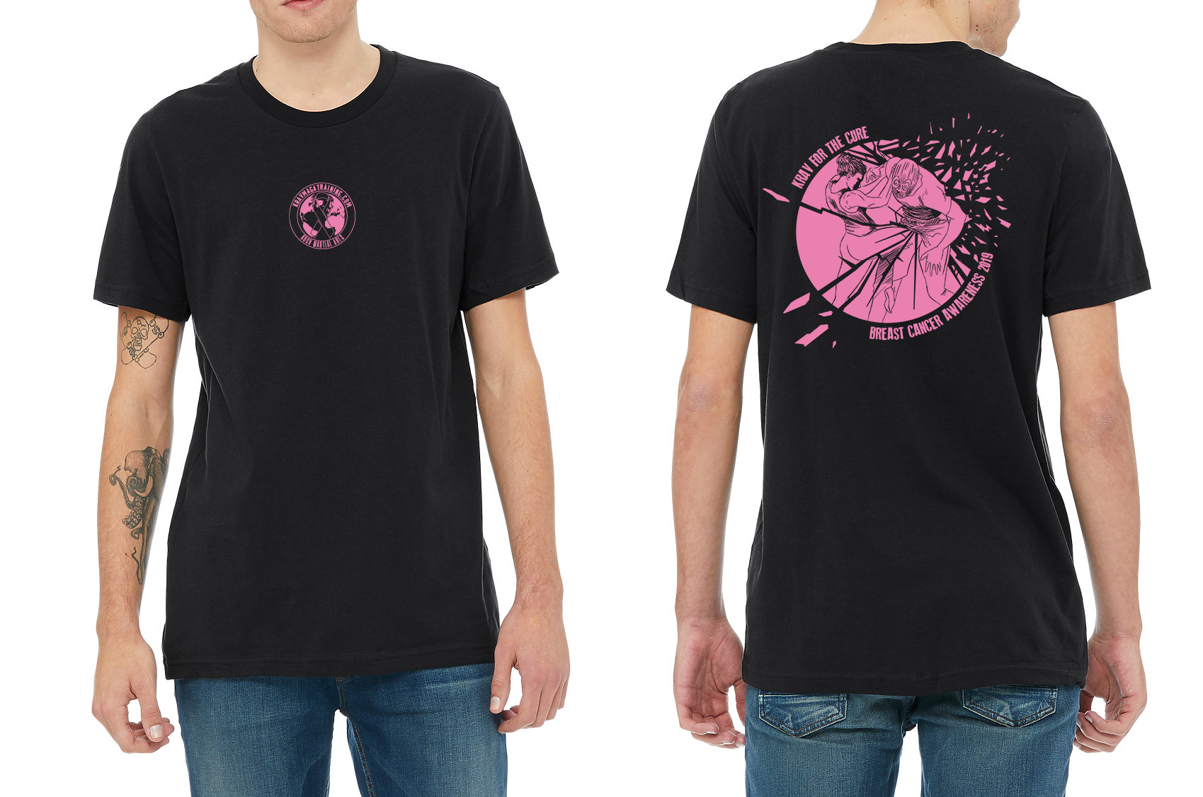 Krav Maga breast cancer awareness shirt 2019