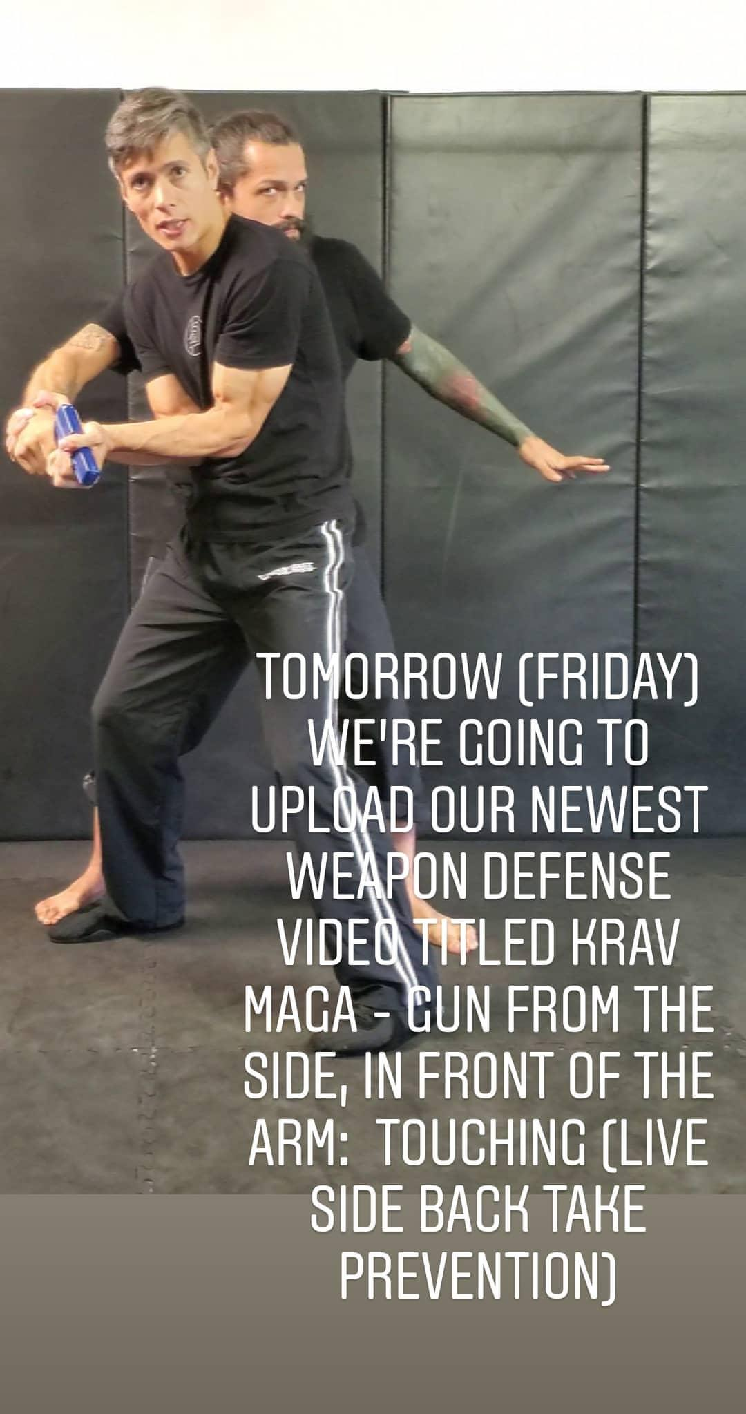 Krav Maga - Gun From The Side, In Front Of The Arm: Touching (Live Side Back Take Prevention
